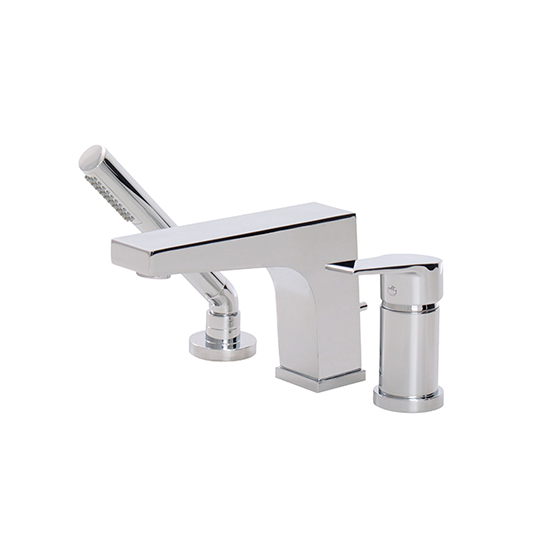 3-piece deckmount tub filler with handshower - 17013