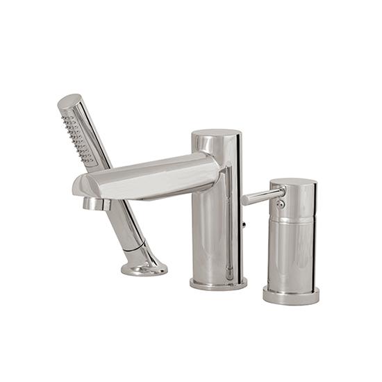 3-piece deckmount tub filler with handshower - 61013