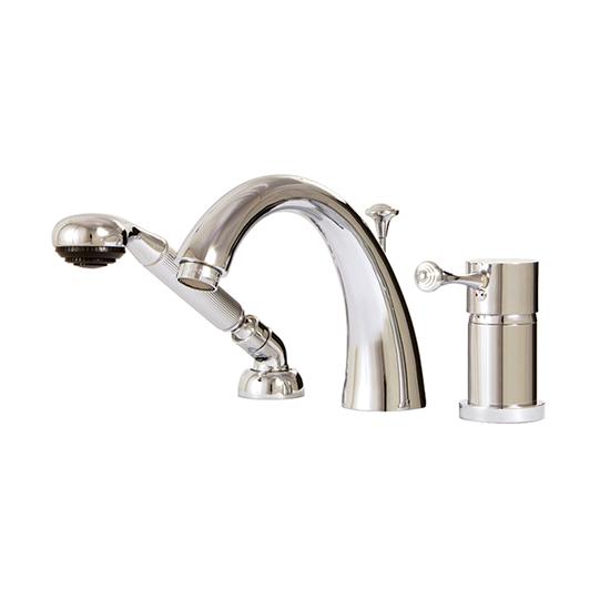 3-piece deckmount tub filler with handshower - 7813