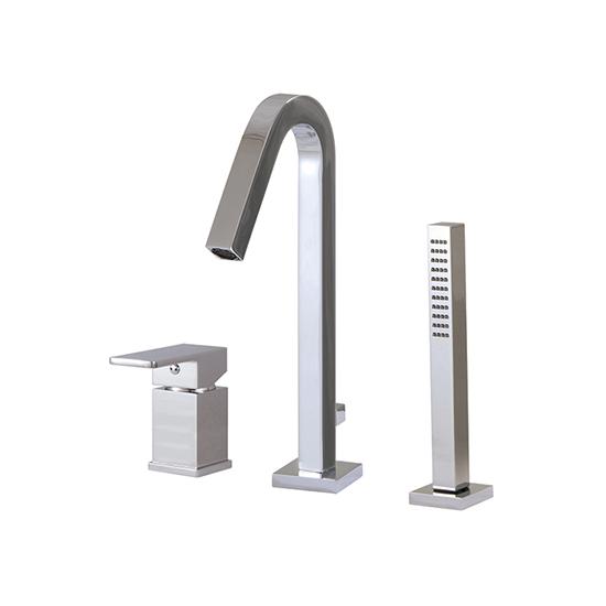3-piece deckmount tub filler with handshower - X7713