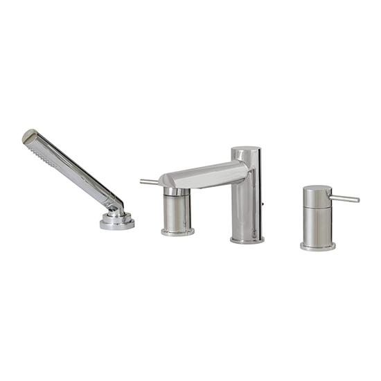 4-piece deckmount tub filler with handshower - 61N018