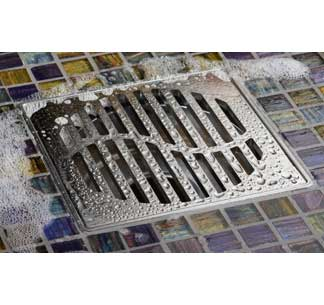 ACO Linear Showerdrains QuARTz Point