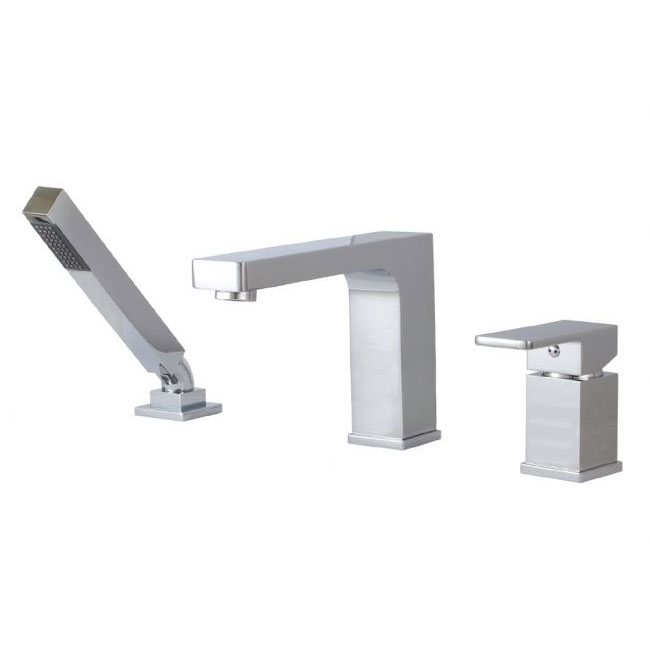 Aquabrass 3 Piece Deckmount Tub Filler with Handshower Madison 86013