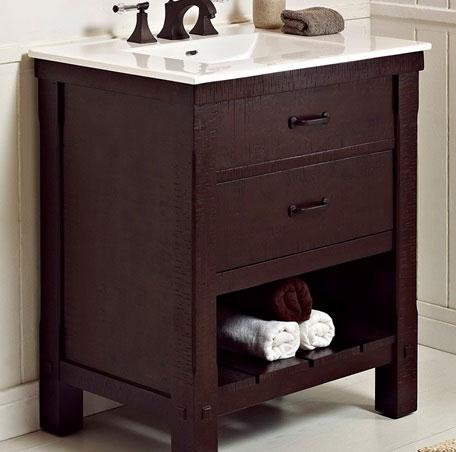"Fairmount Designs Napa 30"" Open Shelf Vanity"