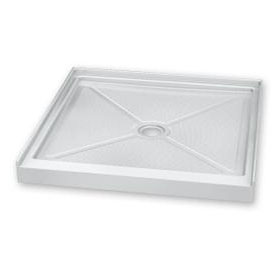 Fleurco Shower Base Square In-Line Acrylic Shower Base (ABC36ST)