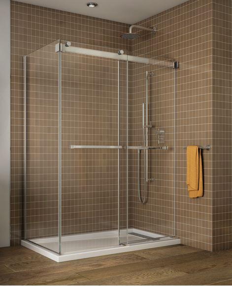 Fleurco : 2 Sided Shower Door bypass of gemini