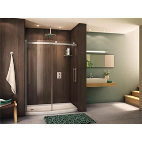 Fleurco Shower Door Novara BowFront 60 Curved Door and Panel
