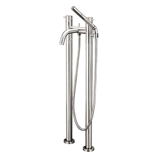 Floormount 2-column tub filler with handshower - 61086