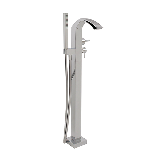 Floormount tub filler with handshower with crystals - 61785