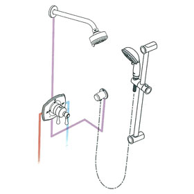 Grohe Authentic THM Dual Function Shower Kit 117170