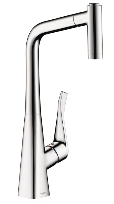 Hansgrohe Metris 2-Spray High Arc Kitchen Faucet, Pull-Out