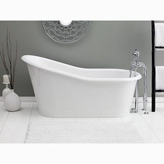"Recor Freestanding Bathtub - Dakota 68"" Cast Iron Bathtub"