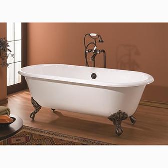 """Recor Freestanding Bathtub -Regal 61""""-Clawfoot Bath"""