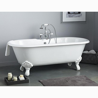 "Recor Freestanding Bathtub -Regal 68""-Shaughnessy Feet"