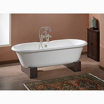 "Recor Freestanding Bathtub -Regal 68""-Wooden Base"