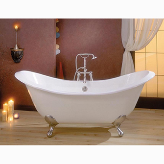 "Recor Freestanding Bathtub -Regency 68""-Cast Iron"