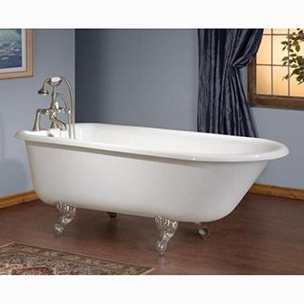 "Recor Freestanding Bathtub -Traditional 54""-Cast Iron"