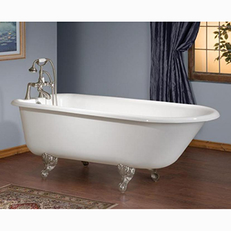 "Recor Freestanding Bathtub -Traditional 61""-Cast Iron"