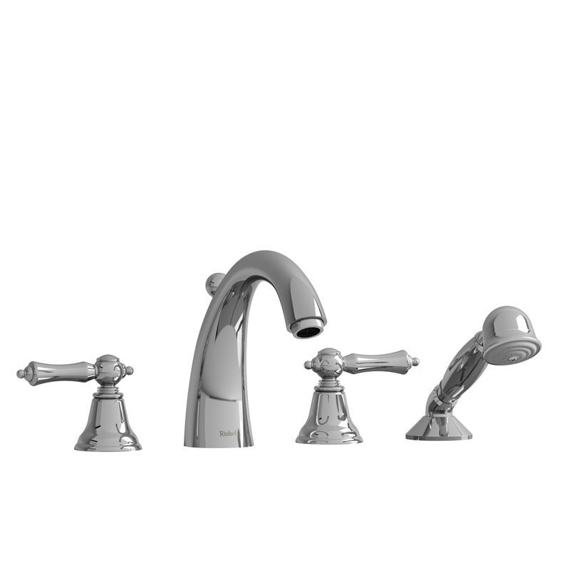 Riobel  4-Piece Deck-Mount Tub Filler With Hand Shower PR12+