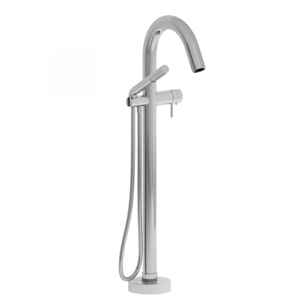 Riobel 2-Way Type T (Thermostatic) Coaxial Floor-Mount Tub Filler With Hand Shower  PA39