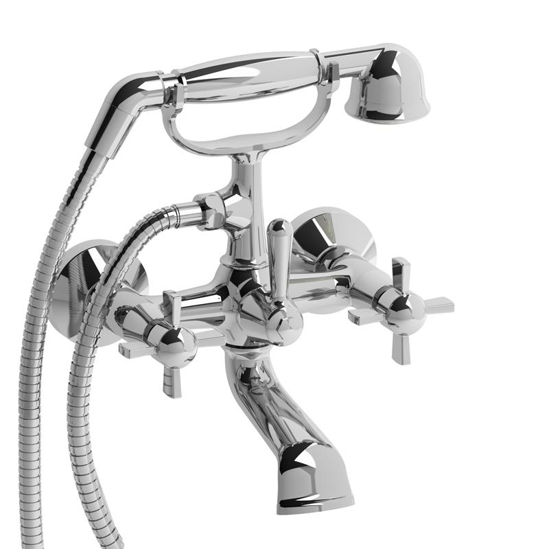"Riobel 6"" Tub Filler With Hand Shower RT06L"