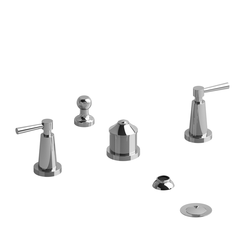 Riobel- PALLACE- 4-Piece Bidet Faucet With Integrated Vacuum Breaker ...