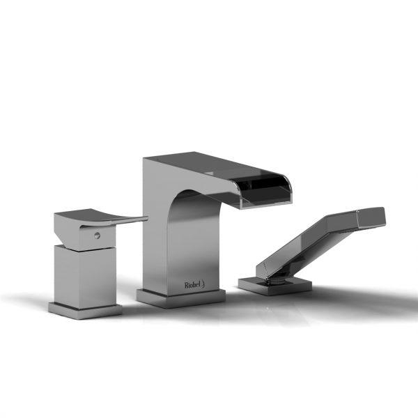 Riobel Zendo 3-Piece Deck Mount Open Spout Faucet ZOOP10