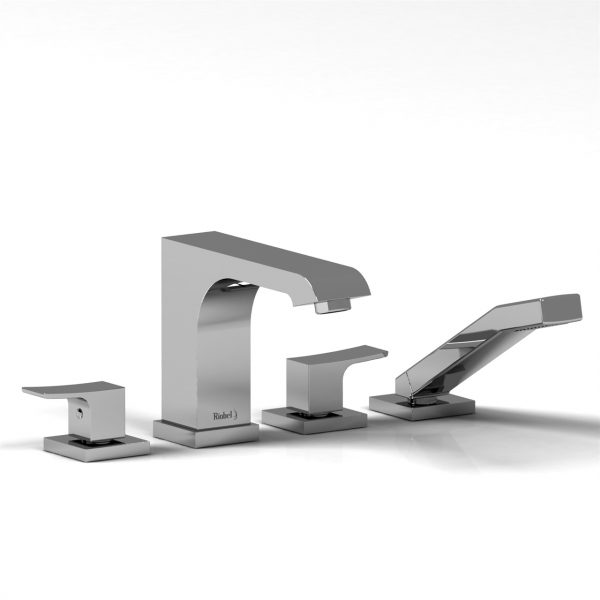 Riobel Zendo 4-Piece Deck Mount Tub Filler w/ Hand Shower ZO12