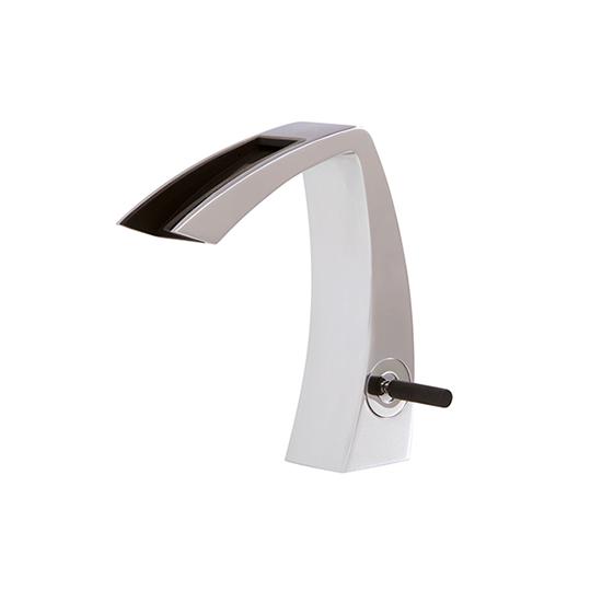 Single-hole lavatory faucet with open spout - 61814