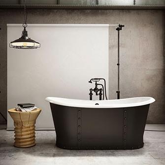 Slik Cast Iron Black-Mat Freestanding Bathtub