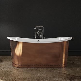 Slik Cast Iron Copper Freestanding Bathtub