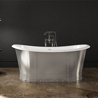 Slik Cast Iron Steel Freestanding Bathtub