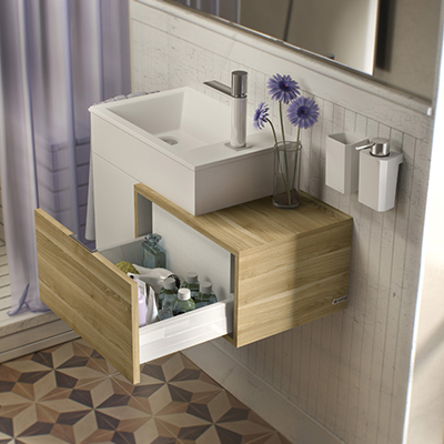 Sonia Puzzle Cabinet/drawer-side Vanity