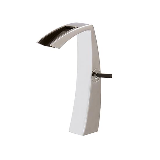 tall single hole lavatory faucet with open spout 61820