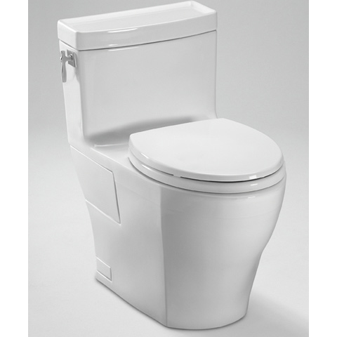TOTO Aimes One Piece High Efficiency Toilet, 1.28GPF  (MS626214CEFG)