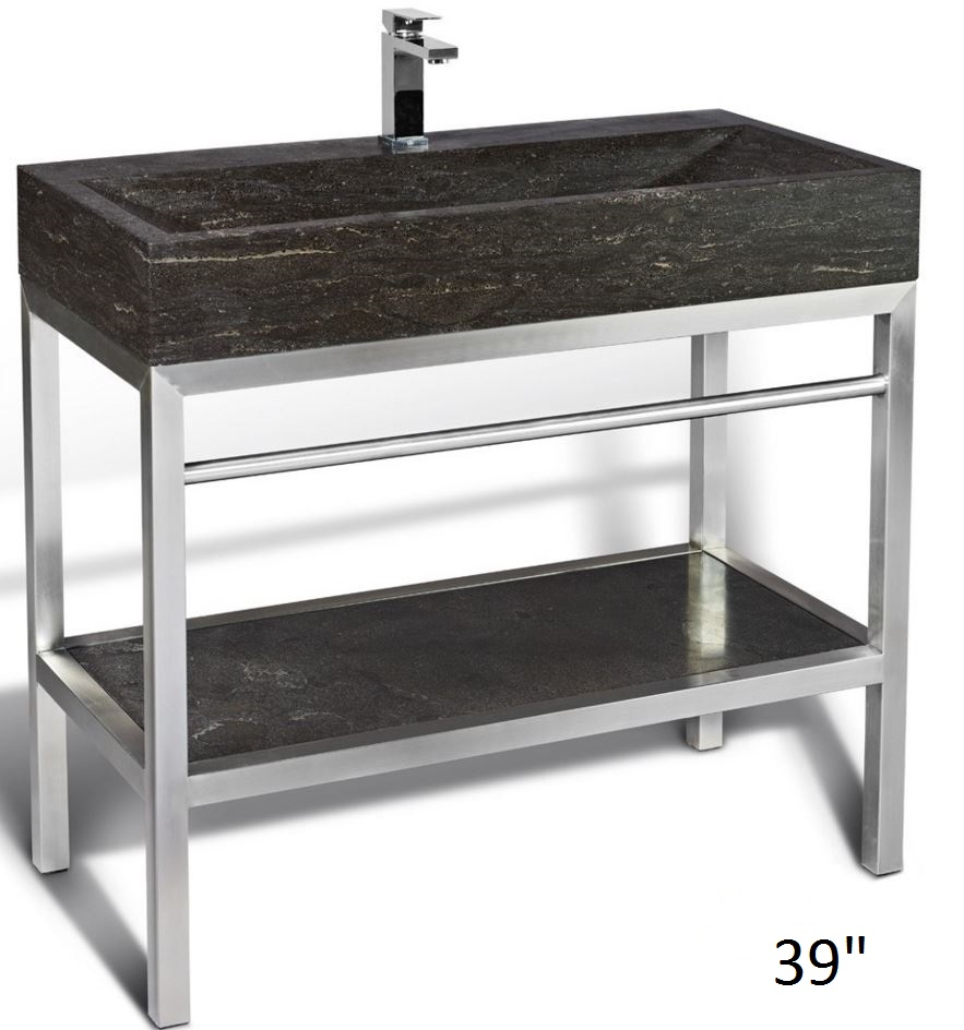 Unik Stone_Steel freestanding Washbasin with Base