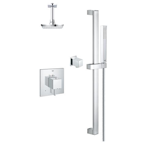 Modern Sq THM Dual Fn shower kit