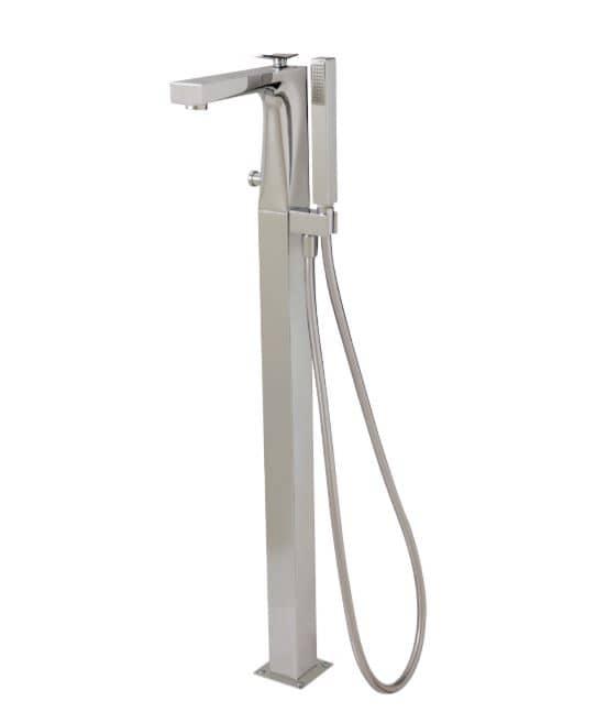 Aquabrass 19N85 Chicane Floor Mount Tub Filler With Hand Shower