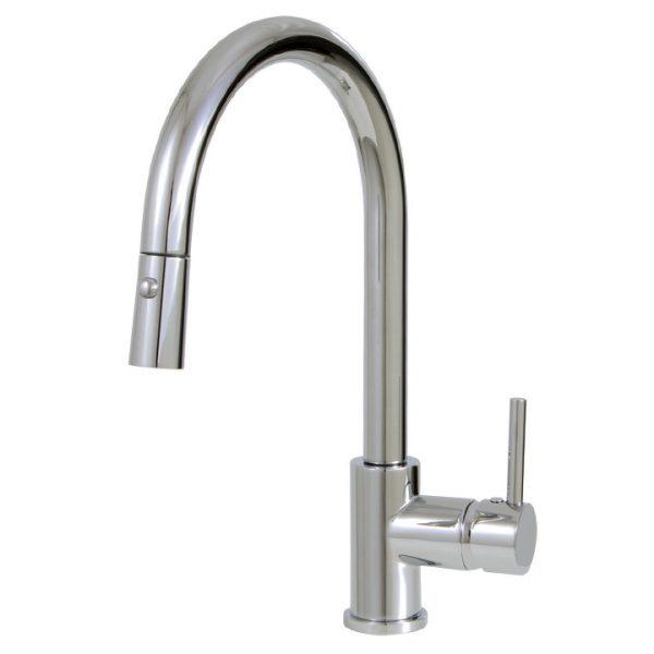 Aquabrass 3445N Pull-down dual stream mode kitchen faucet
