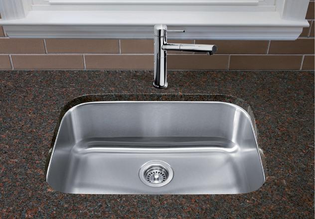 Gentil Blanco Kitchen Sink Stellar U Super Single 401028
