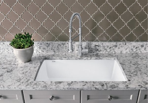 BLANCO DIAMOND U SUPER SINGLE Granite composite sink in SILGRANIT