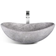 "UNIK Stone LMS-010 - 22"" Ice marble sink"