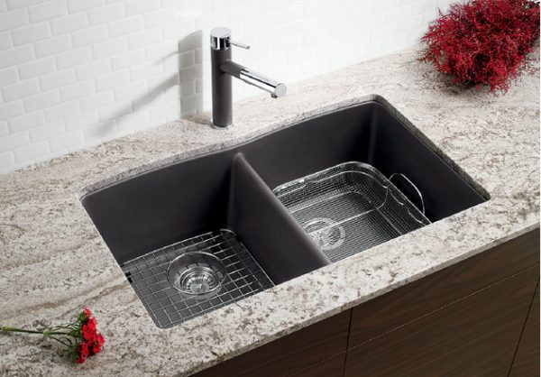 BLANCO DIAMOND U 2 - Granite composite sink in SILGRANIT