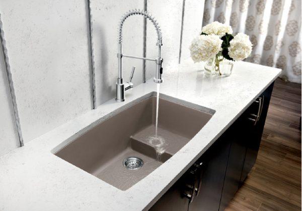 BLANCO PERFORMA U CASCADE - Granite composite sink in SILGRANIT