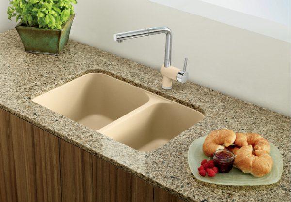 BLANCO VISION U 1 1_/2 Granite composite sink in SILGRANIT