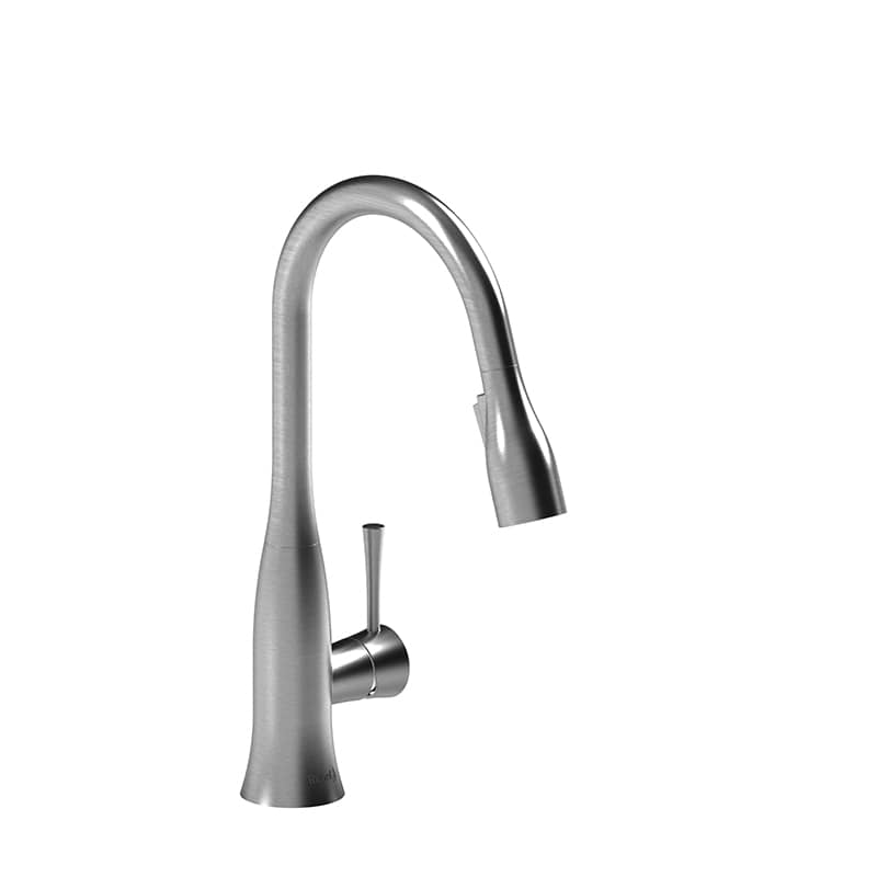 Riobel ED601SS Edge Single Hole Prep Sink Faucet Stainless Steel