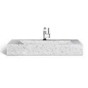"UNIK Stone LMS-039 - 39"" Ice marble sink"
