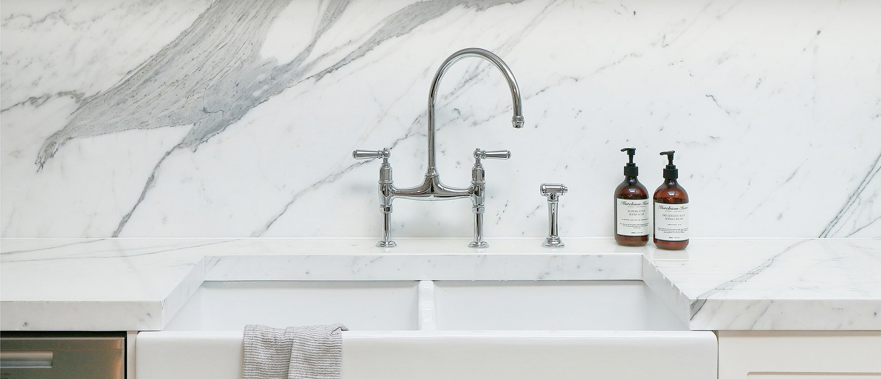 Rohl Perrin and Rowe Bridge Ionian Kitchen Faucet w/ Side Spray U ...