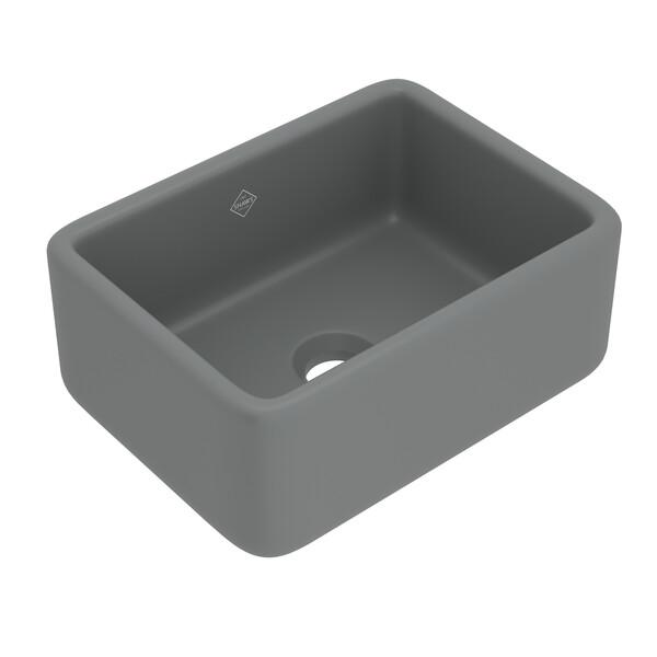 """Rohl Shaw Lancaster 24"""" RC2418MG Apron Front Sink Matte Grey"""