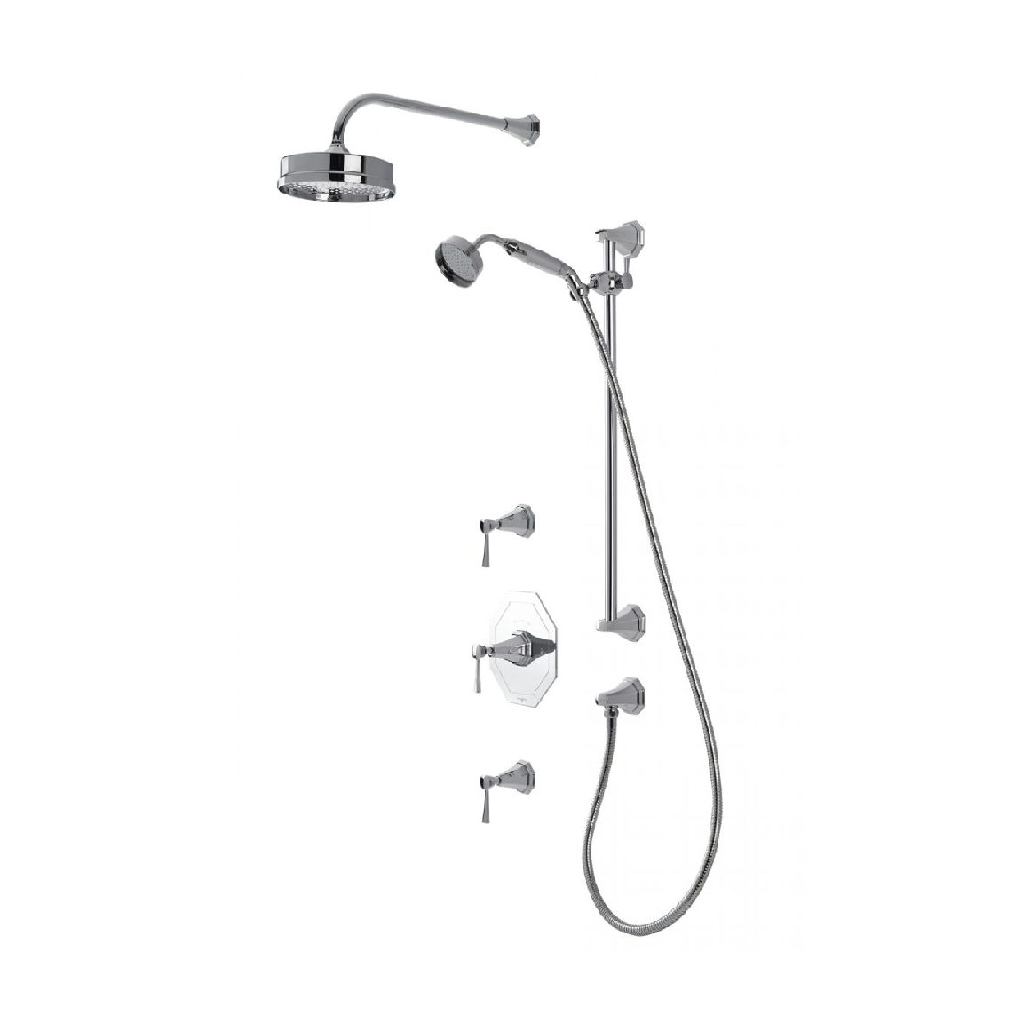 Rohl Perrin And Rowe Deco Thermostatic Shower Set Bliss Bath And